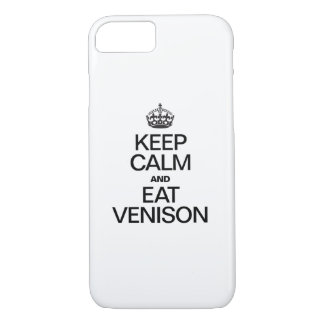 KEEP CALM AND EAT VENISON iPhone 8/7 CASE