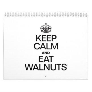 KEEP CALM AND EAT WALNUTS CALENDAR