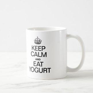 KEEP CALM AND EAT YOGURT COFFEE MUG
