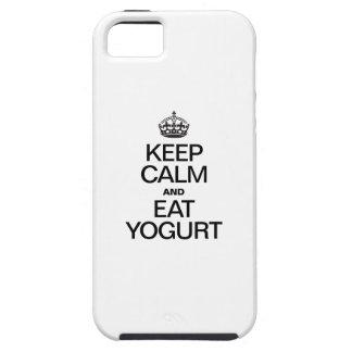 KEEP CALM AND EAT YOGURT iPhone SE/5/5s CASE