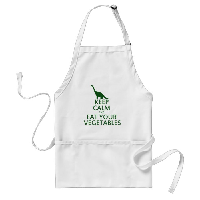 Keep Calm and Eat your Vegetables Adult Apron