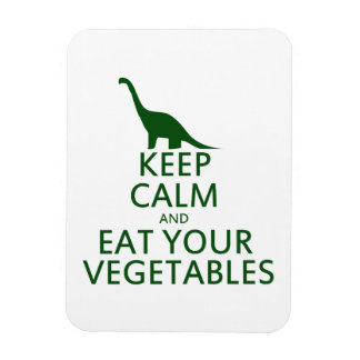 Keep Calm and Eat your Vegetables Rectangular Photo Magnet