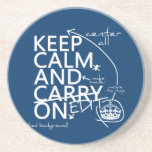 Keep Calm and Edit On (in any color) Beverage Coaster