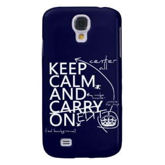 Keep Calm and Edit On (in any color) Galaxy S4 Case
