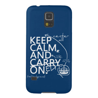 Keep Calm and Edit On (in any color) Galaxy S5 Case