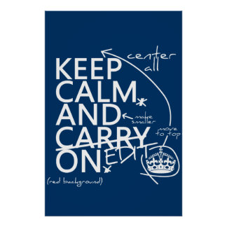 Keep Calm and Edit On (in any color) Poster