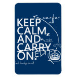 Keep Calm and Edit On (in any color) Rectangular Photo Magnet