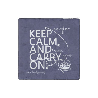Keep Calm and Edit On (in any color) Stone Magnet