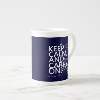Keep Calm and Edit On (in any color) Tea Cup