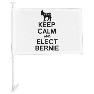 Keep Calm and Elect Bernie Car Flag