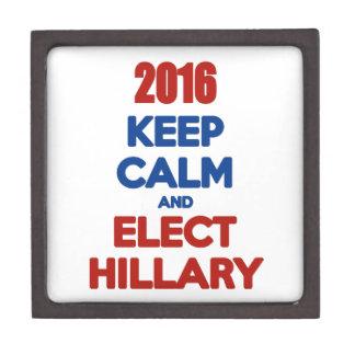 Keep Calm And Elect Hillary 2016 Premium Trinket Box