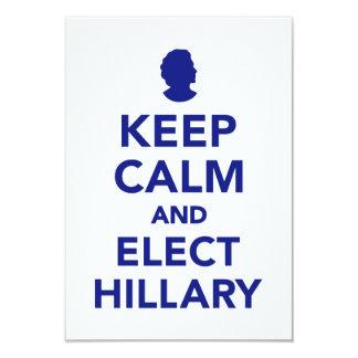 Keep calm and elect Hillary Card