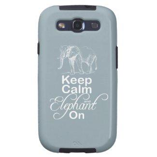 Keep calm and Elephant On Elephants Gift Item Blue