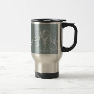Keep calm and Elephant On Elephants Gift Item Blue Travel Mug