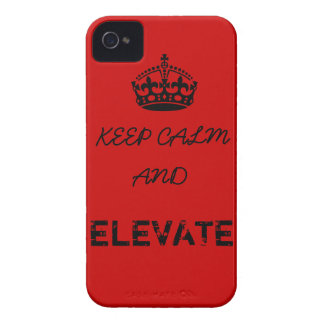 Keep Calm and Elevate iPhone 4 Cover