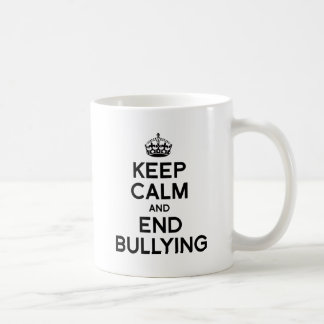 KEEP CALM AND END BULLYING CLASSIC WHITE COFFEE MUG