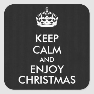 Keep Calm and Enjoy Christmas Black White Sticker