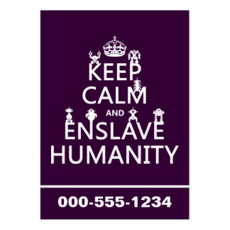 Keep Calm and Enslave Humanity (robots) Large Business Cards (Pack Of 100)