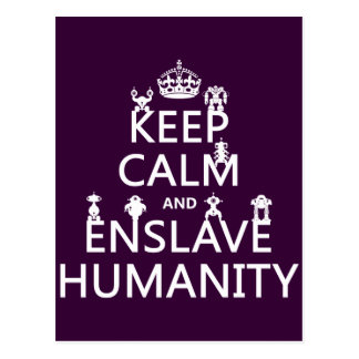 Keep Calm and Enslave Humanity (robots) Post Cards