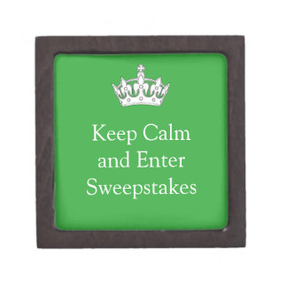Keep Calm and Enter Sweepstakes gift box