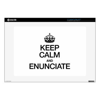 KEEP CALM AND ENUNCIATE DECAL FOR LAPTOP