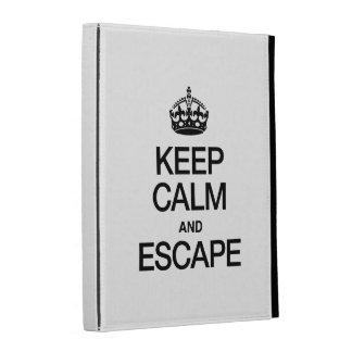 KEEP CALM AND ESCAPE iPad FOLIO CASES