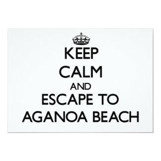 """Keep calm and escape to Aganoa Beach Samoa 5"""" X 7"""" Invitation Card"""