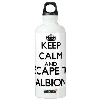 Keep calm and escape to Albion Illinois SIGG Traveler 0.6L Water Bottle