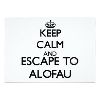 """Keep calm and escape to Alofau Samoa 5"""" X 7"""" Invitation Card"""