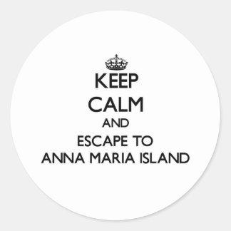 Keep calm and escape to Anna Maria Island Florida Stickers
