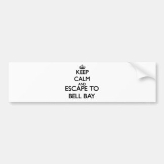 Keep calm and escape to Bell Bay Michigan Car Bumper Sticker