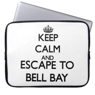 Keep calm and escape to Bell Bay Michigan Laptop Computer Sleeve