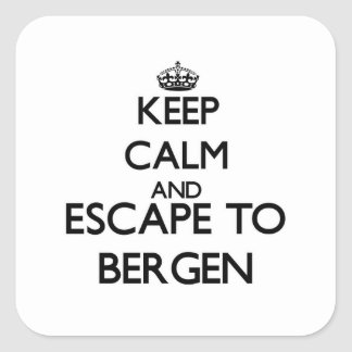 Keep calm and escape to Bergen New Jersey Sticker