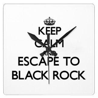 Keep calm and escape to Black Rock Massachusetts Clocks