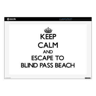 Keep calm and escape to Blind Pass Beach Florida Skin For Laptop