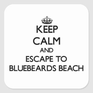 Keep calm and escape to Bluebeards Beach Virgin Is Square Sticker