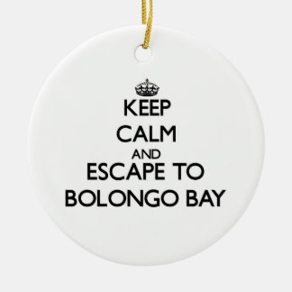 Keep calm and escape to Bolongo Bay Virgin Islands Double-Sided Ceramic Round Christmas Ornament