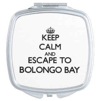 Keep calm and escape to Bolongo Bay Virgin Islands Travel Mirror