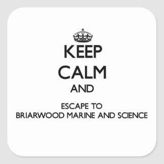 Keep calm and escape to Briarwood Marine And Scien Square Sticker