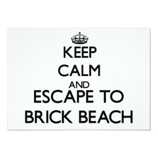 Keep calm and escape to Brick Beach New Jersey 5x7 Paper Invitation Card