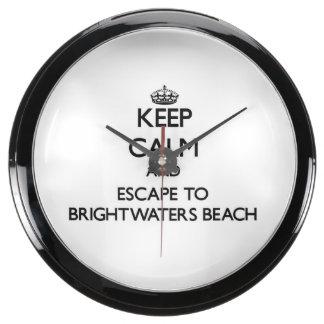 Keep calm and escape to Brightwaters Beach New Yor Aquavista Clock