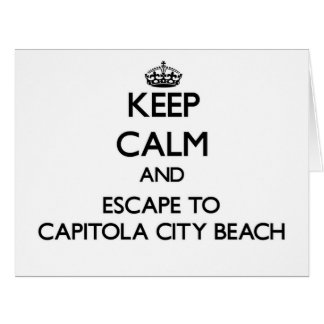 Keep calm and escape to Capitola City Beach Califo Greeting Cards
