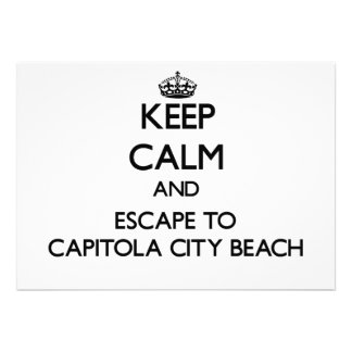 Keep calm and escape to Capitola City Beach Califo Card