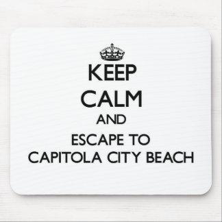 Keep calm and escape to Capitola City Beach Califo Mouse Pad