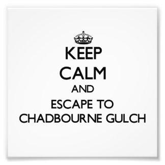 Keep calm and escape to Chadbourne Gulch Californi Photo Print