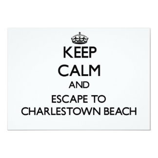 Keep calm and escape to Charlestown Beach Rhode Is 5x7 Paper Invitation Card
