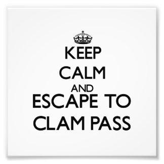 Keep calm and escape to Clam Pass Florida Photo Print