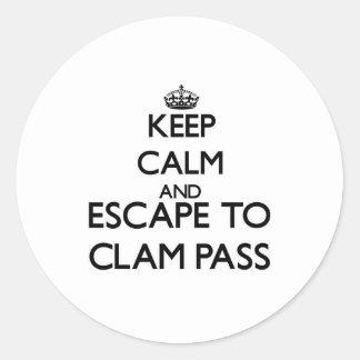 Keep calm and escape to Clam Pass Florida Sticker
