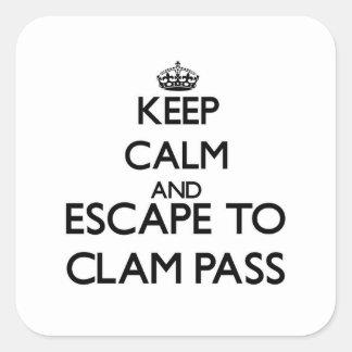 Keep calm and escape to Clam Pass Florida Square Sticker