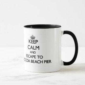 Keep calm and escape to Cocoa Beach Pier Florida Mug